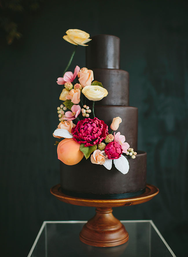 3-floral-chocolate-wedding-cake