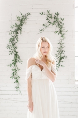 Ethereal chic white wedding styled shoot
