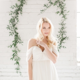 Ethereal chic white wedding styled shoot