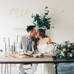Cozy Fall At-Home Wedding Inspiration