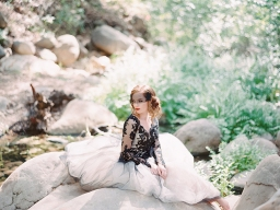 Bold and Foxy Black Lace Wedding Inspiration