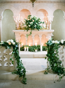 French Countryside Chateau de Varennes Intimate Blush & Green Wedding