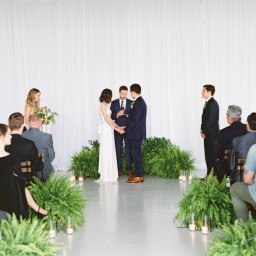 A Minimalist Fern-Styled Wedding
