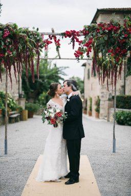 Burgundy Black Tie Wedding in Tuscany