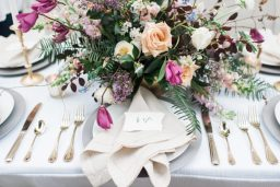 Purple and Neutral Romantic Minimalist Shoot