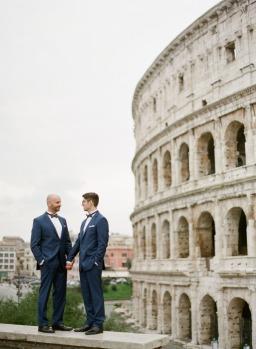 Stunning Fall Same Sex Marriage in Villa Conte Spalletti in Rome