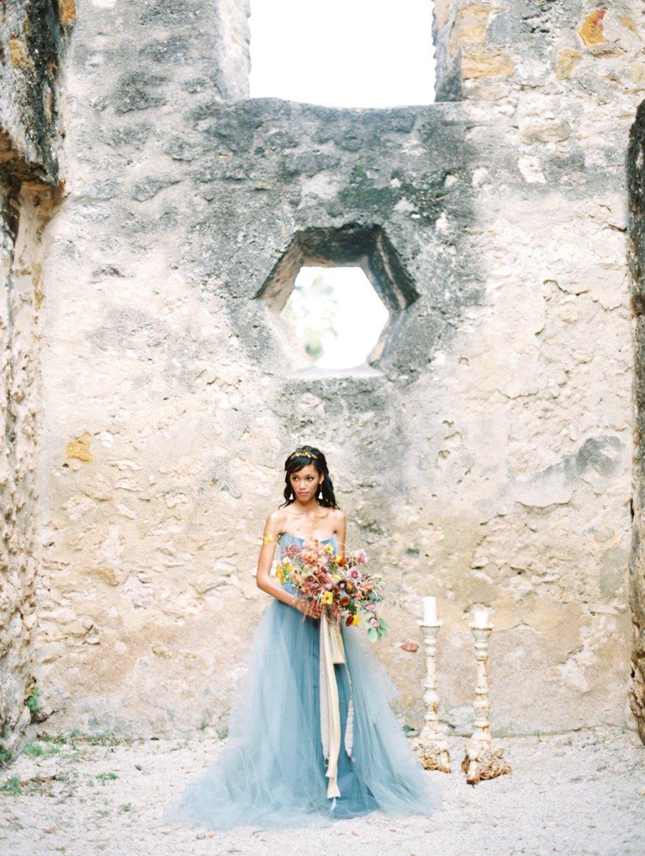Mission san jose ethereal blue green inspiration shoot for Wedding dress rental san jose