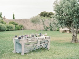 South of France Chapel Vow Renewal in Baby Pastels