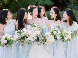 You Will Love this Organic Lush Greens and Sky Blue Garden Wedding