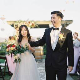 Beautiful Winery Wedding with Berry Tones in Temecula