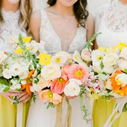 A Vibrant and Colorful Inspiration Shoot with a Splash of Yellow
