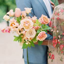 Beautiful Floral Engagement Shoot in Paris