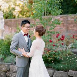 Beautiful Outdoor Maroon Vintage Wedding