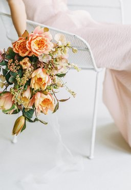 Bright Coral and Blush Bridal Inspiration Shoot